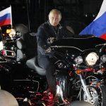 Russian Prime Minister Vladimir Putin visits a bike festival in Novorossiysk