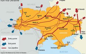 Ukraine Gazprom gas pipe